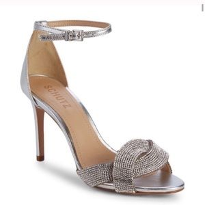 SCHUTZ Jolita Metallic Embellished Sandals NWT 7